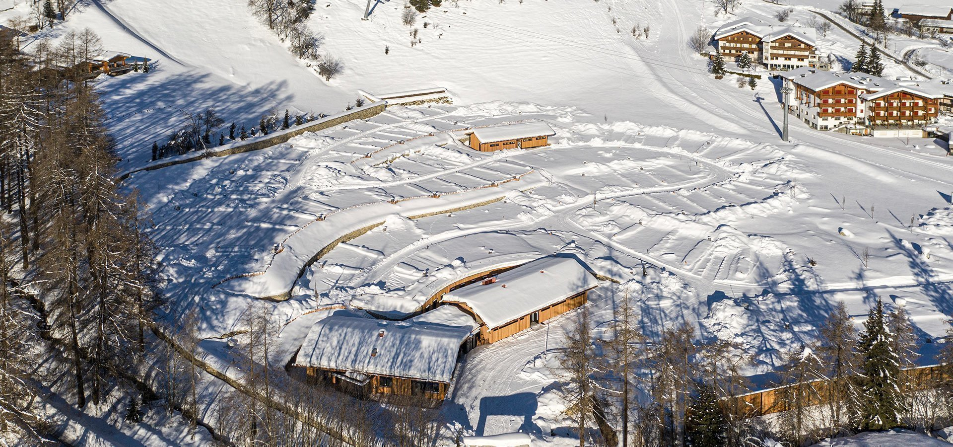 Camping direkt an der Skipiste in Südtirol
